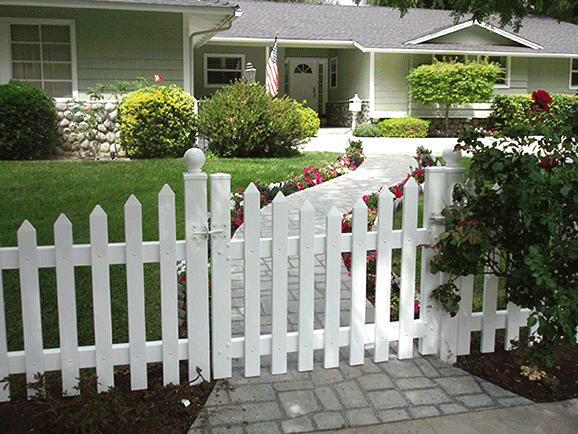White Picket Fence Gate