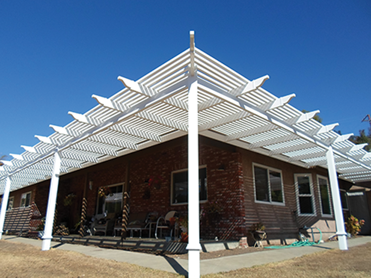 Superb Picket Patio Cover