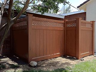 Privacy Fencing With Lattice Accents Los Angeles Ca Buy