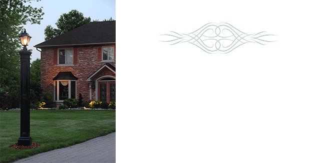 Guide your footsteps to the entrance of your home with our Liberty Lamp Post. Our low maintenance polyethylene lamp posts are a great solution to your residential lighting needs.