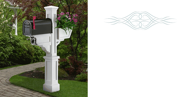 Timeless Style Infused in History... These classic lines were created with impeccable style and craftsmanship for lasting appeal.  Mailbox not included.