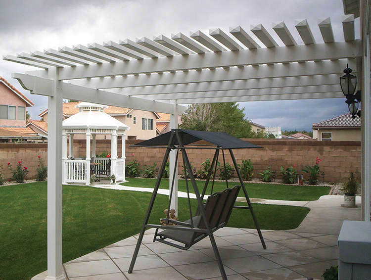Vinyl Picket Patio Covers, Solid patio covers Los Angeles ...