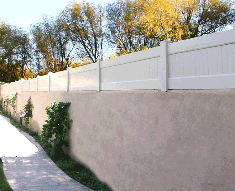Vinyl Block Wall Extentions Vinyl Solid Fencing California Los Angeles Van Nuys Burbank