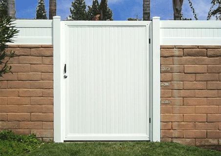 Vinyl Yard Gate