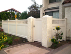 Adobe Privacy Fence with Picket Accent