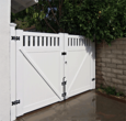 Vinyl Double Gate with Accents