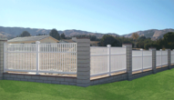 Vinyl Enclosed Picket Fence with accents