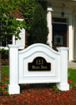 Vinyl Nantucket Address Sign