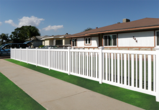 Vinyl Enclosed Picket Fence