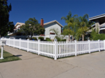 Vinyl Picket Fence with Solar Cap