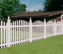 Vinyl Picket with Fenel Fence