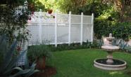 Vinyl Semi Privacy Lattice Fence