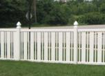 Vinyl Semi Privacy Fencing