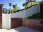 Vinyl Solid Privacy with Gate Slopped