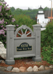 Vinyl Winchester Address Sign